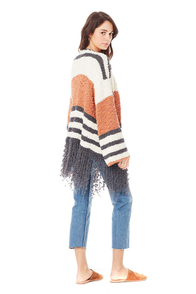 Clay Stripe McKenna Sweater - back