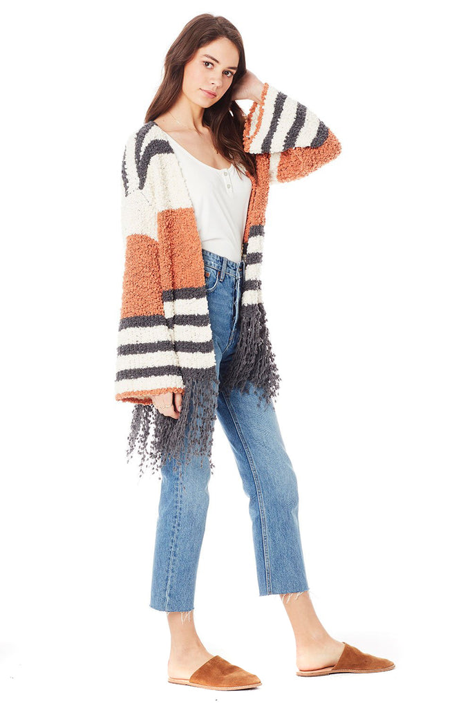 Clay Stripe McKenna Sweater - side