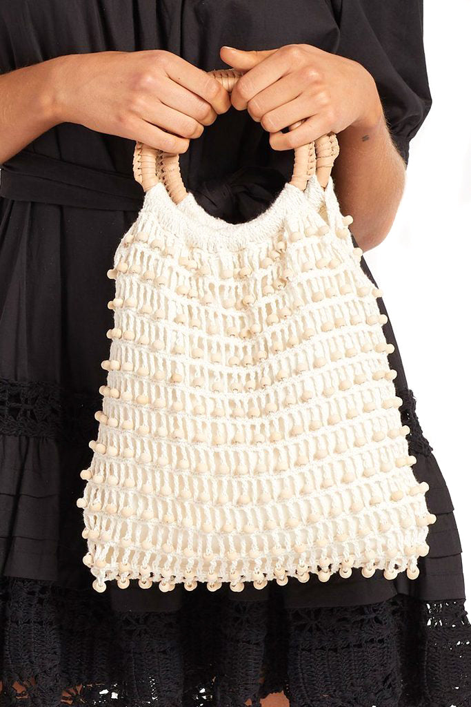 Cleobella Ivory Rose Bag