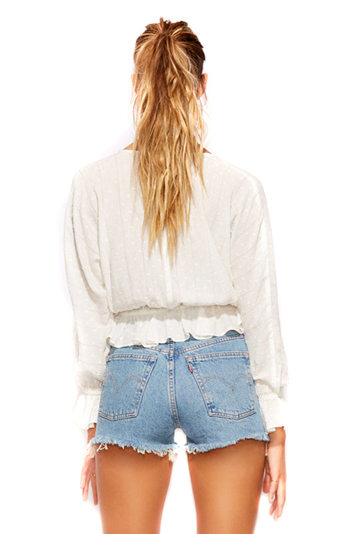 Cloud Lurex Femi Dolman Top back