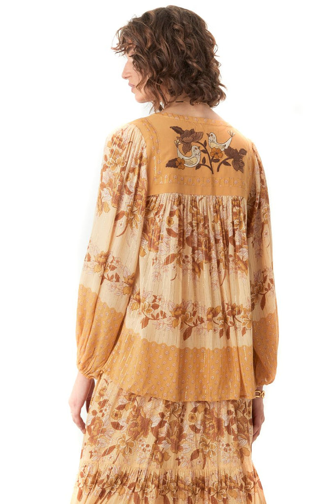 Spell & The Gypsy Collective Caramel Coco Lei Blouse - back