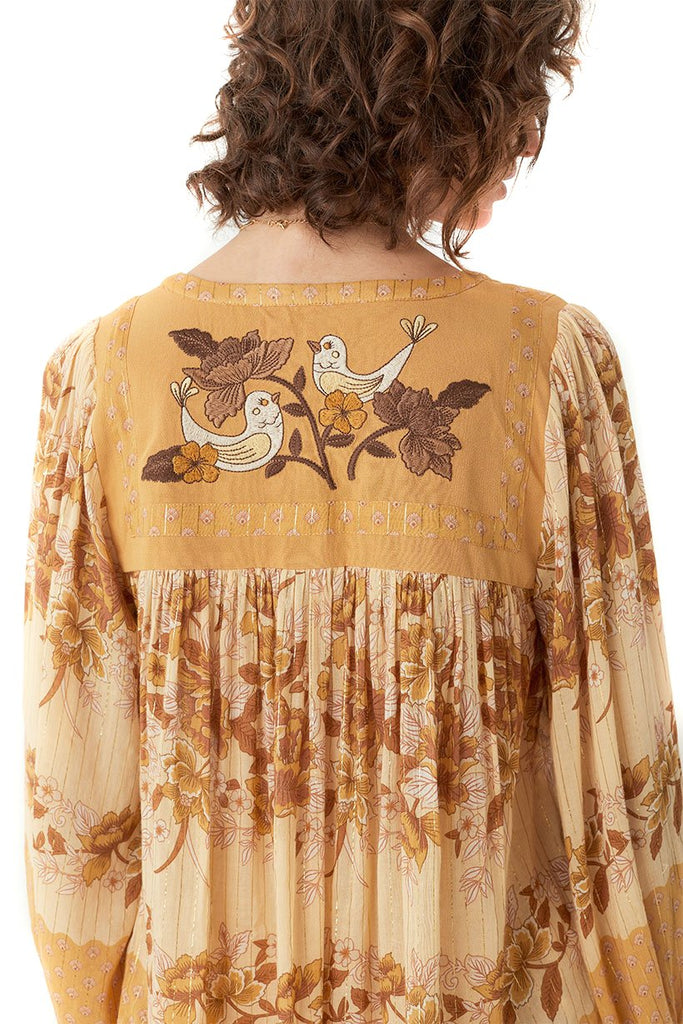 Spell & The Gypsy Collective Caramel Coco Lei Blouse - Back Detail