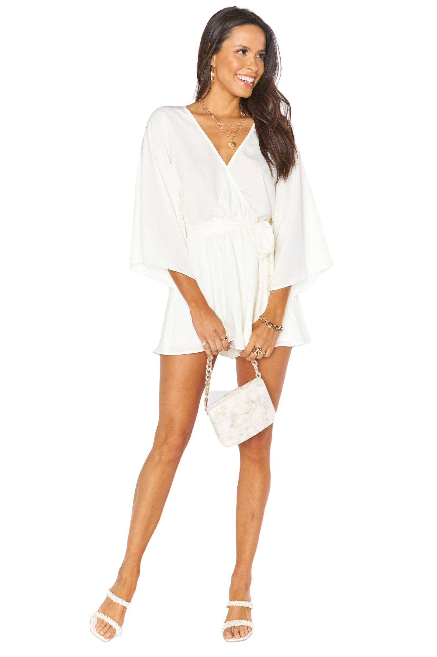 Cream Lo Romper - Full