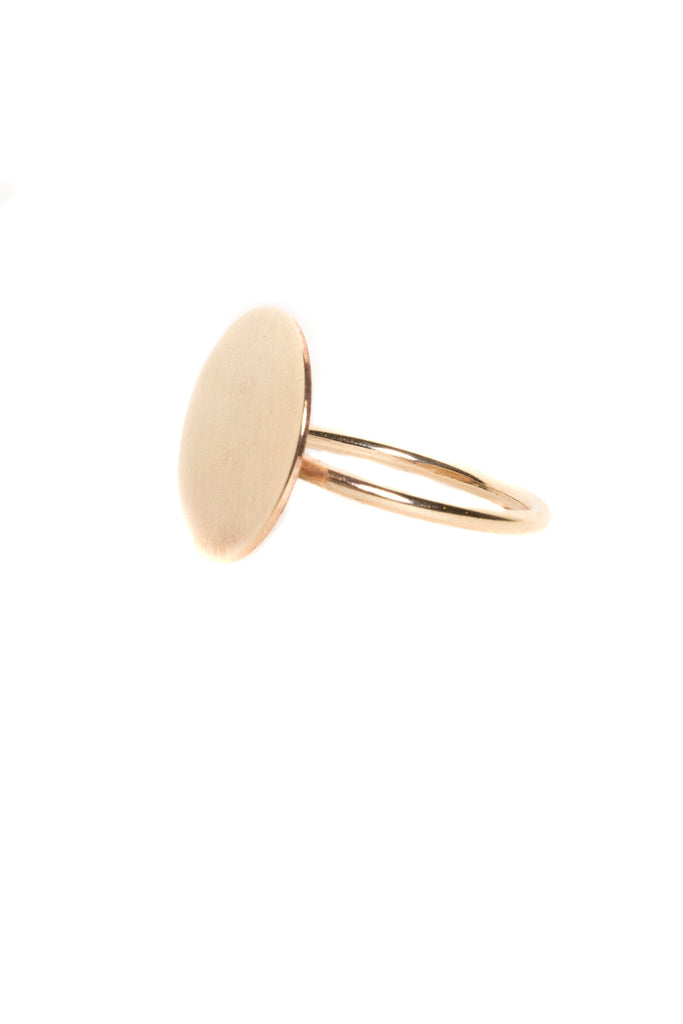 Gold Cymbal Signet Ring