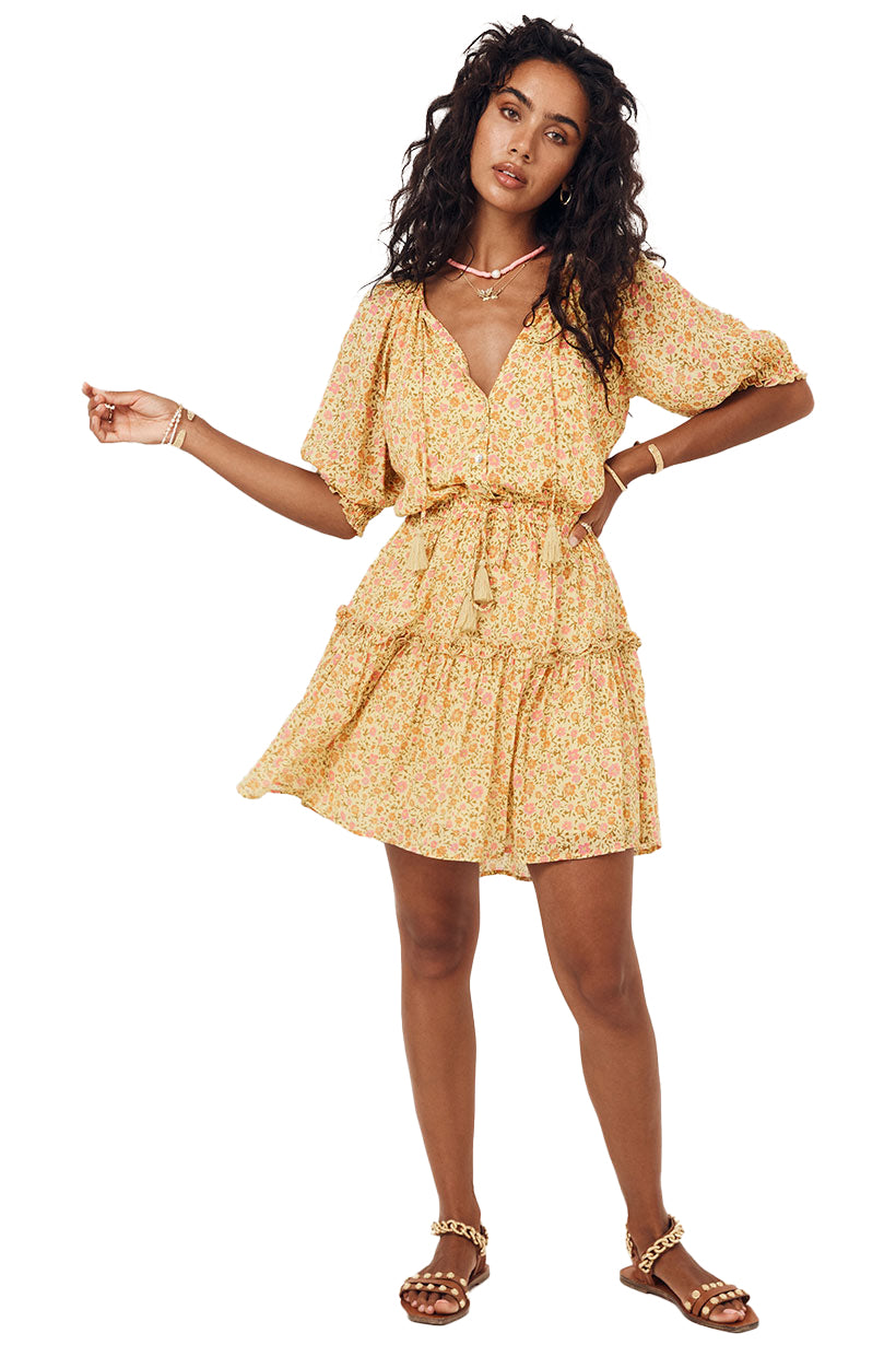 Daisy Yellow Rae Playdress - front