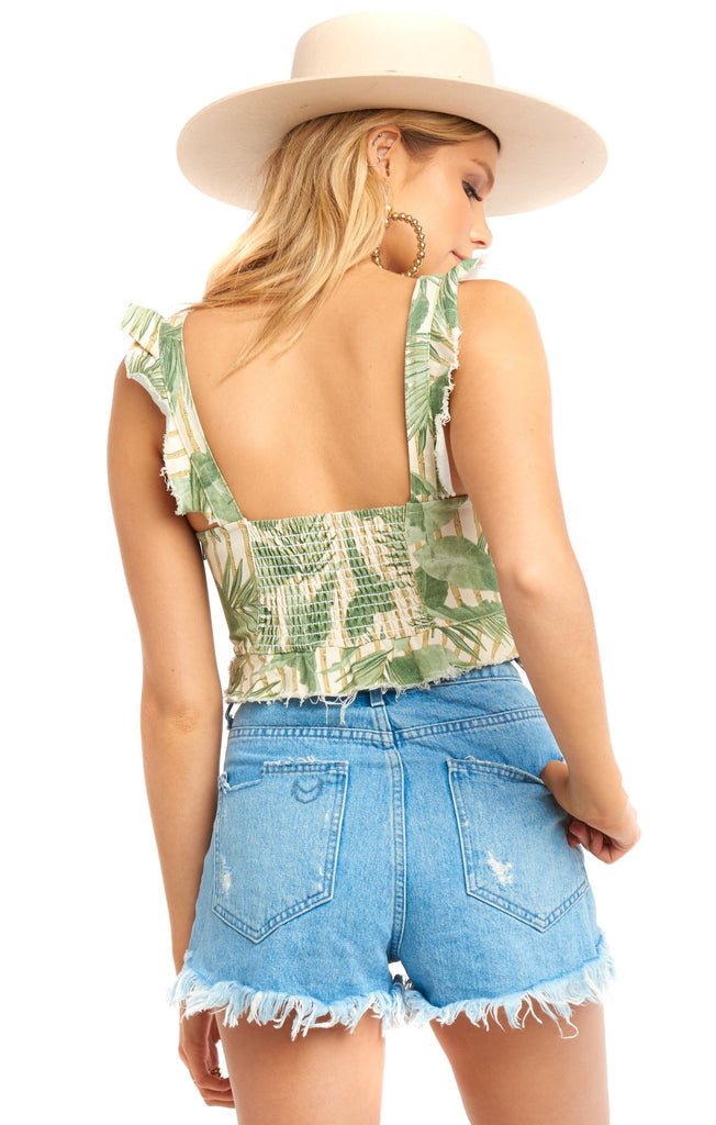 Bamboo Palm Delia Crop Top - Back