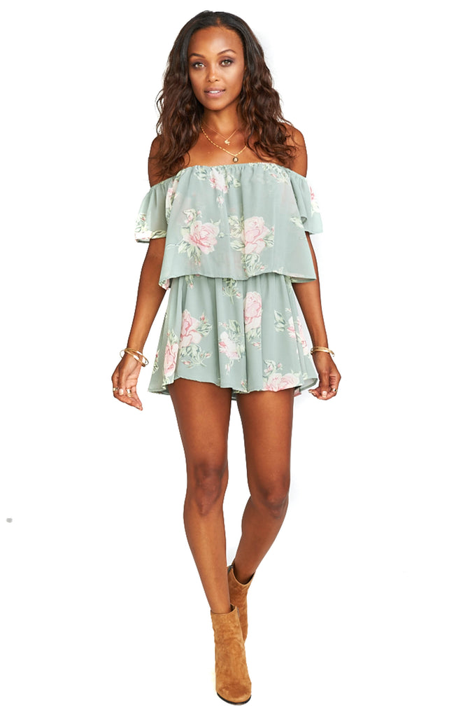 Sweetheart Sage Dixie Romper