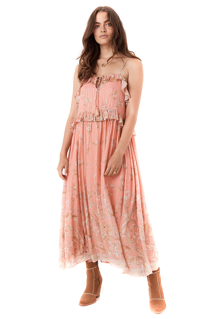 Dusty Pink Hendrix Strappy Maxi Dress