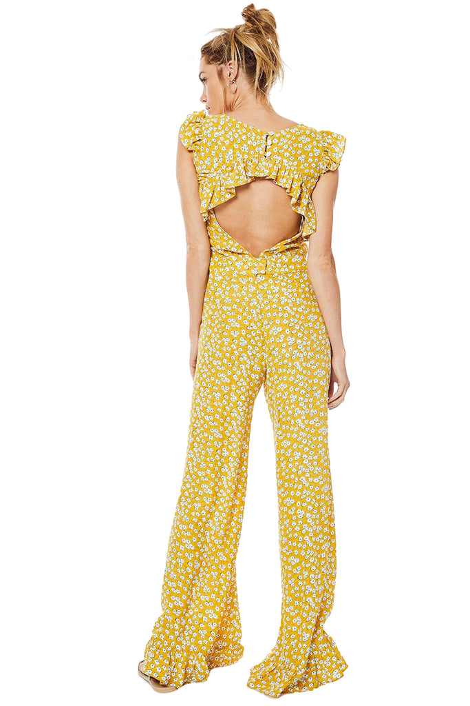 Emily Gold Piper Jumpsuit - Back