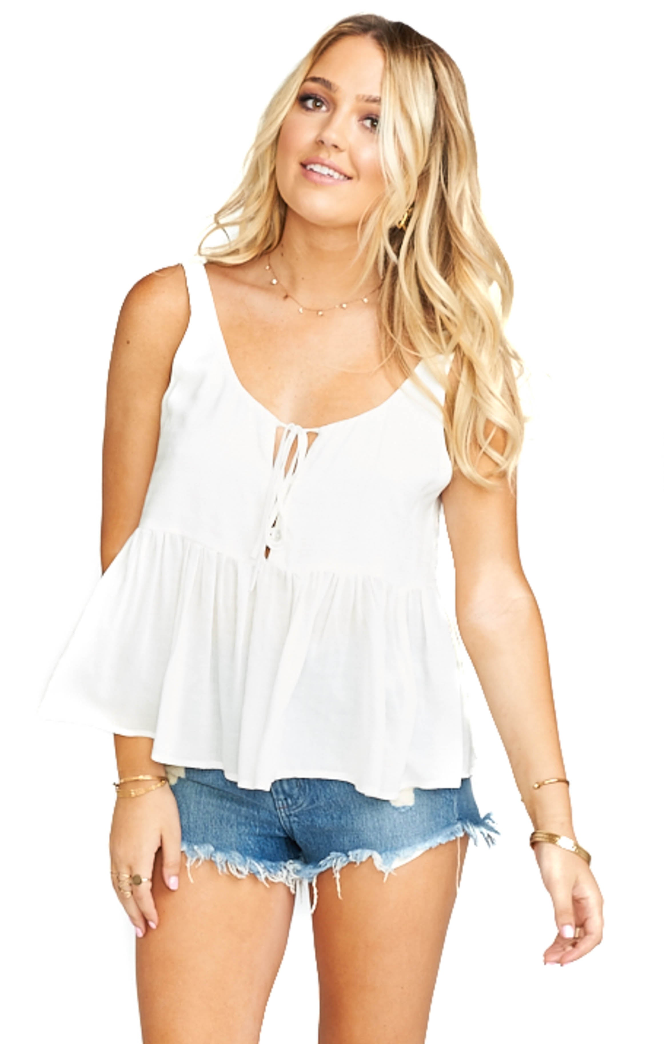 White Challis Everly Top