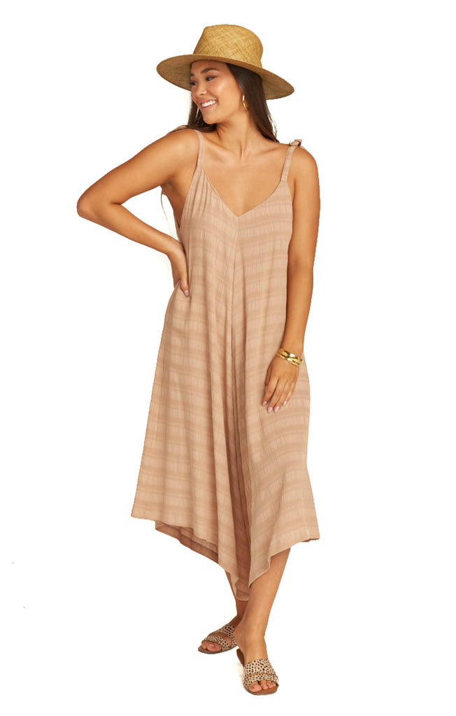 Tan Ripple Faithy Faith Jumpsuit