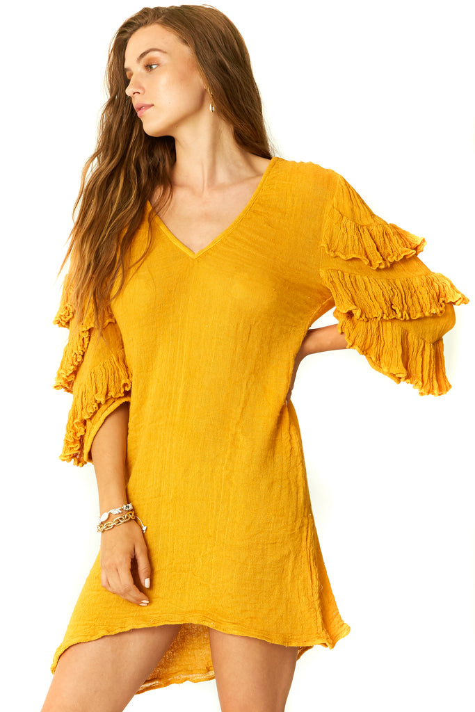 Gold Gauze Capricorn Tunic - Side