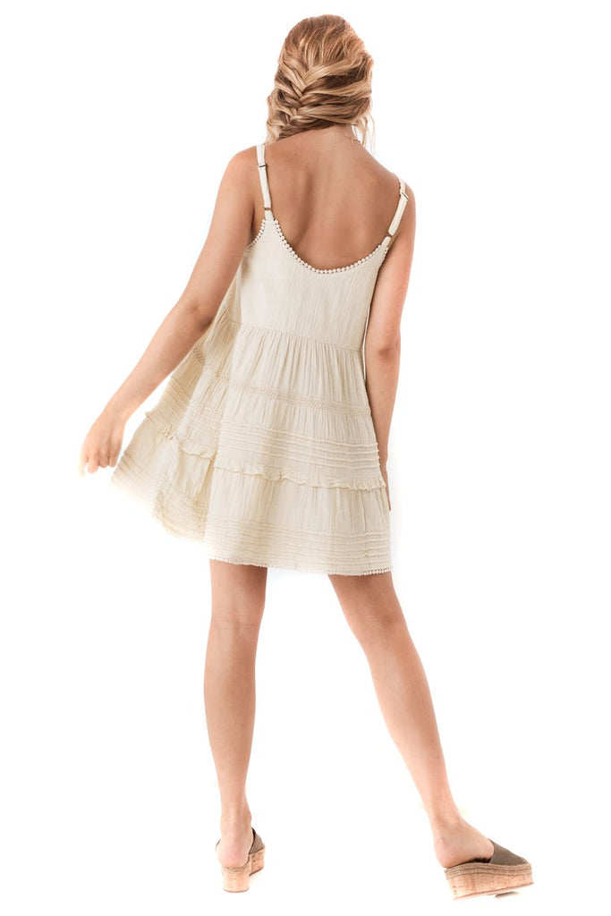 Spell & The Gypsy Collective Sand Hanalei Strappy Mini Dress - back
