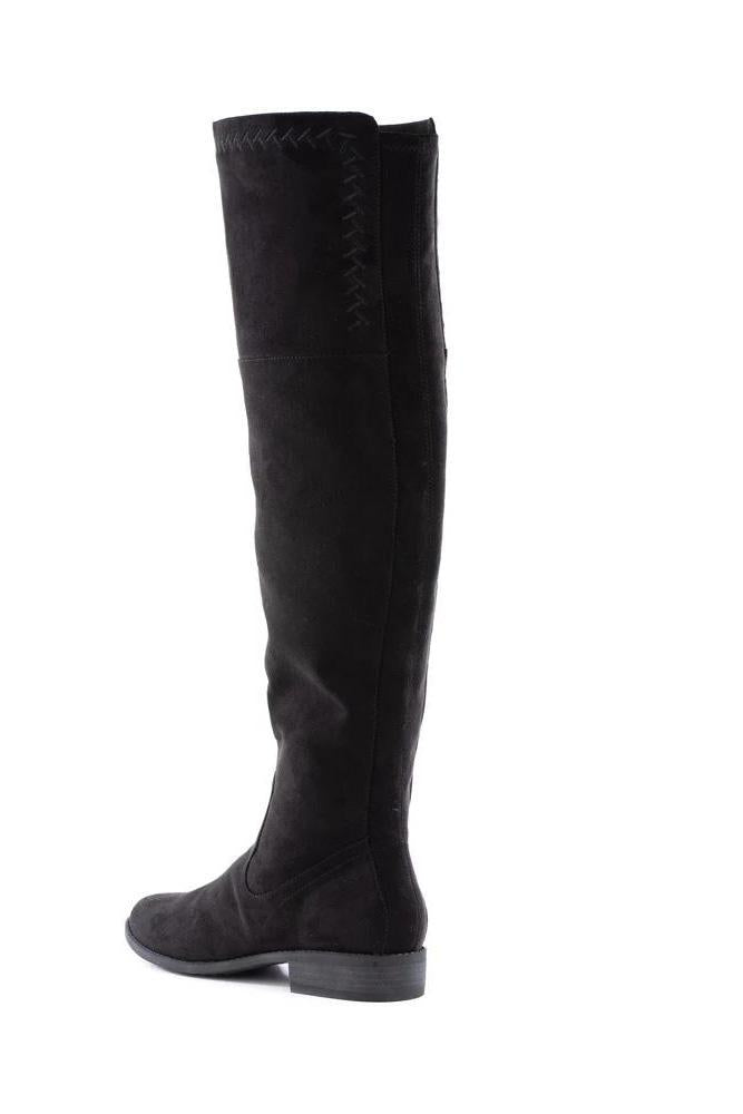 BC Footwear Vegan Black Height Knee Boot - Back