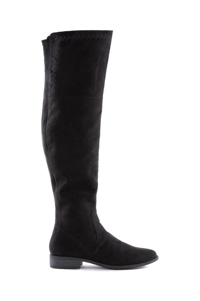 BC Footwear Vegan Black Height Knee Boot - Side
