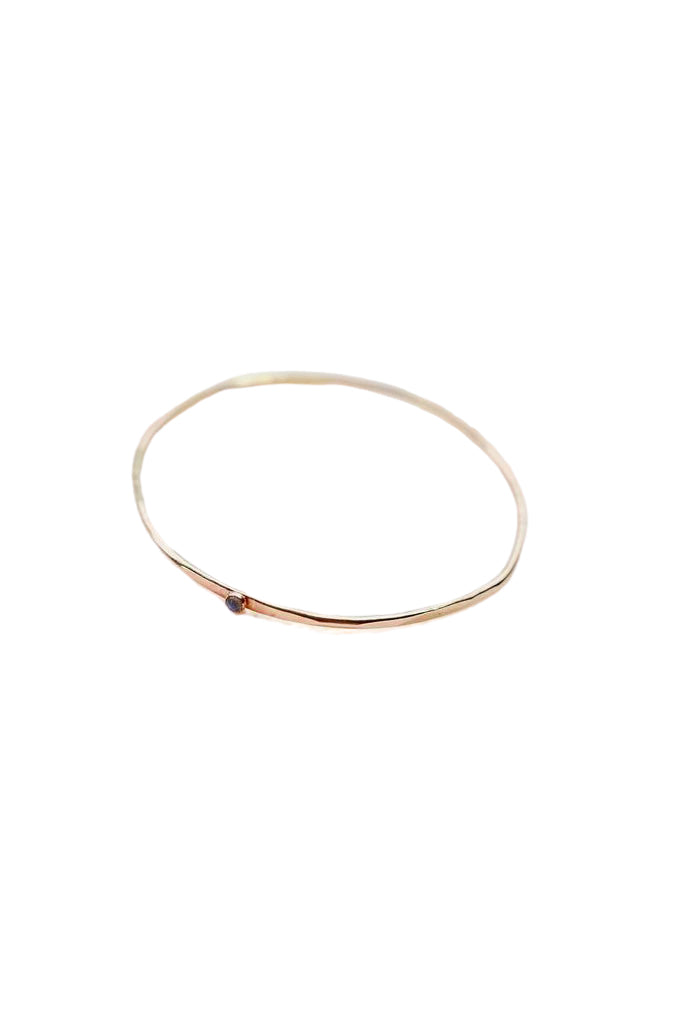 Hex Gemstone Bangle - Front