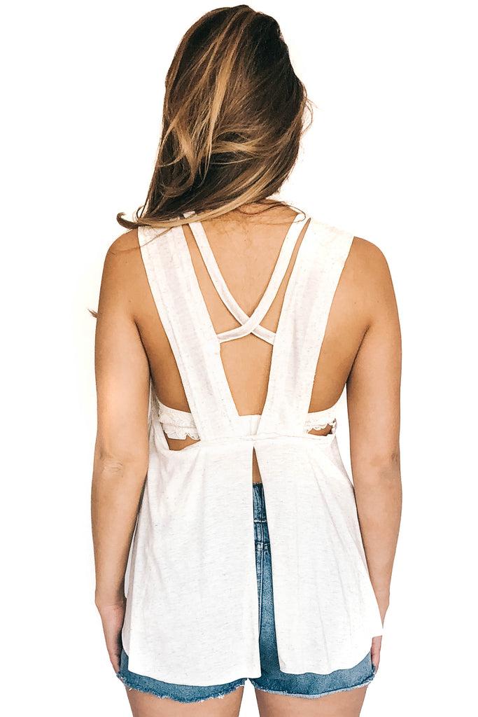 saltwater luxe open criss cross back cami back photo