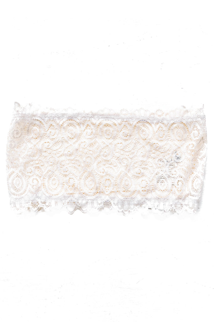 Ivory Seamless and Lace Bandeau