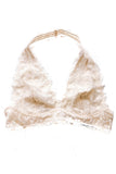 Ivory Galloon Lace Halter Bralette