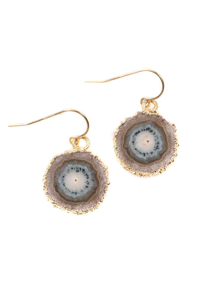 Jasper Stalactite Slice Earrings