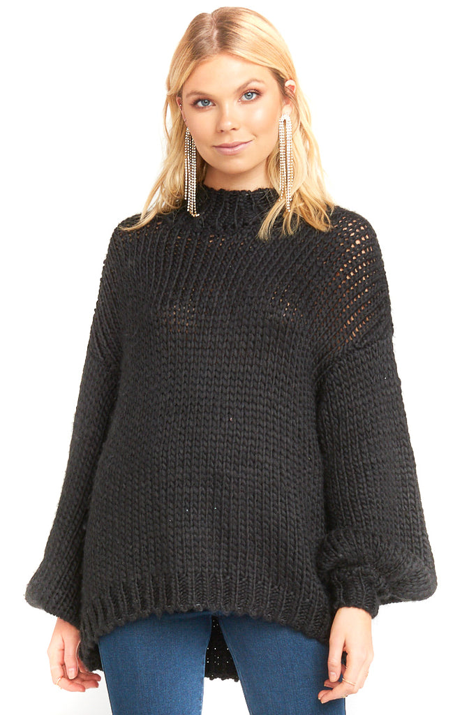 Show Me Your Mumu Black Knit Jude Sweater