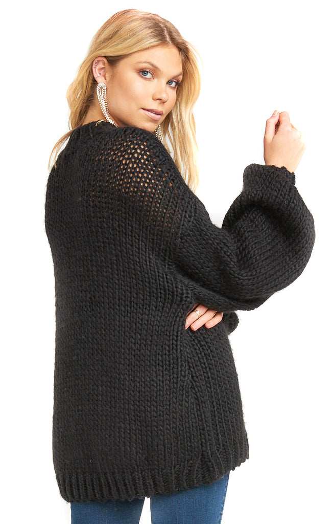 Black Knit Jude Sweater - back