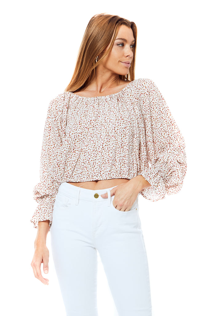 Laurel White Trudy Top - Front