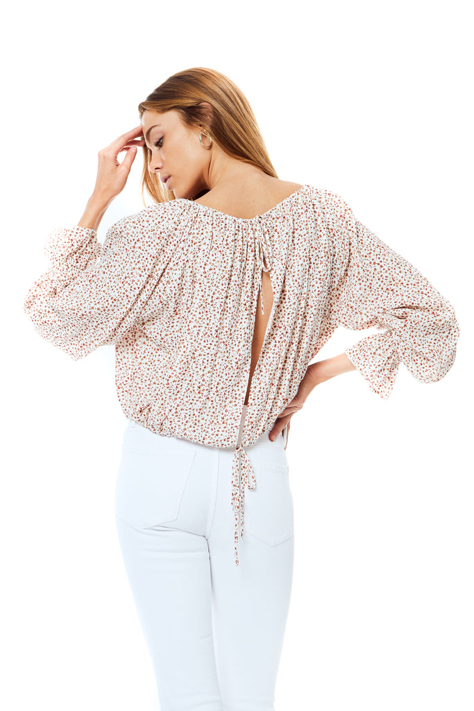 Laurel White Trudy Top - Back
