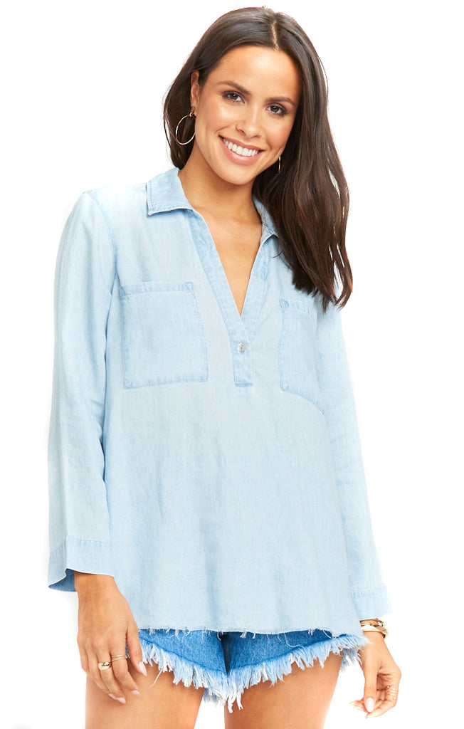 Light Chambray Carlie Shirt