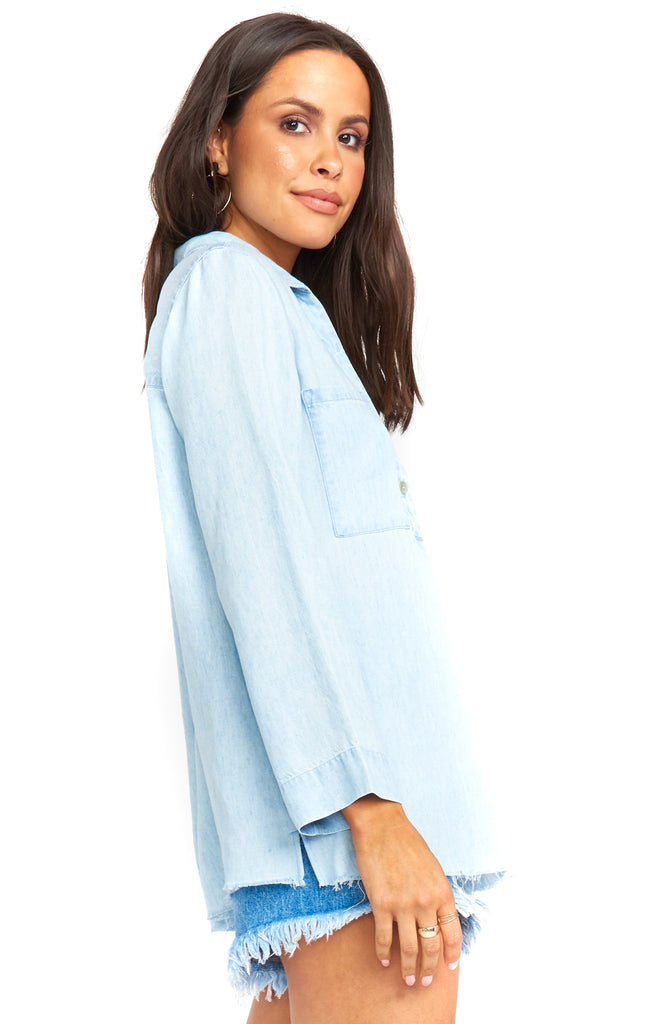 Light Chambray Carlie Shirt Side