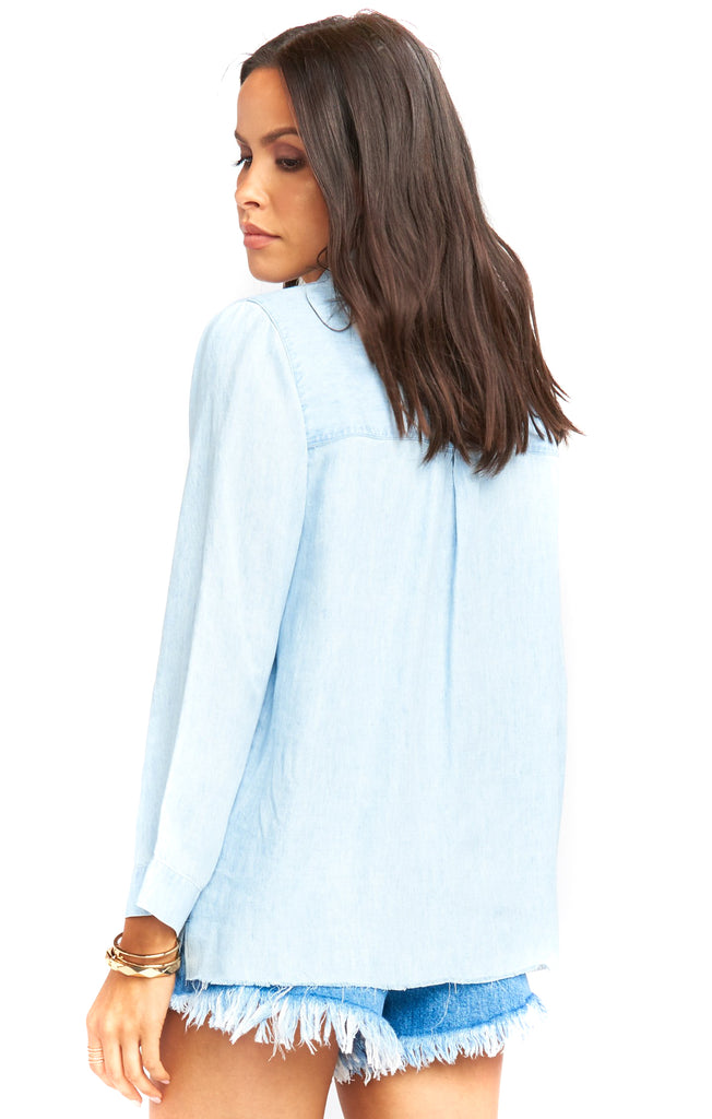 Light Chambray Carlie Shirt Back