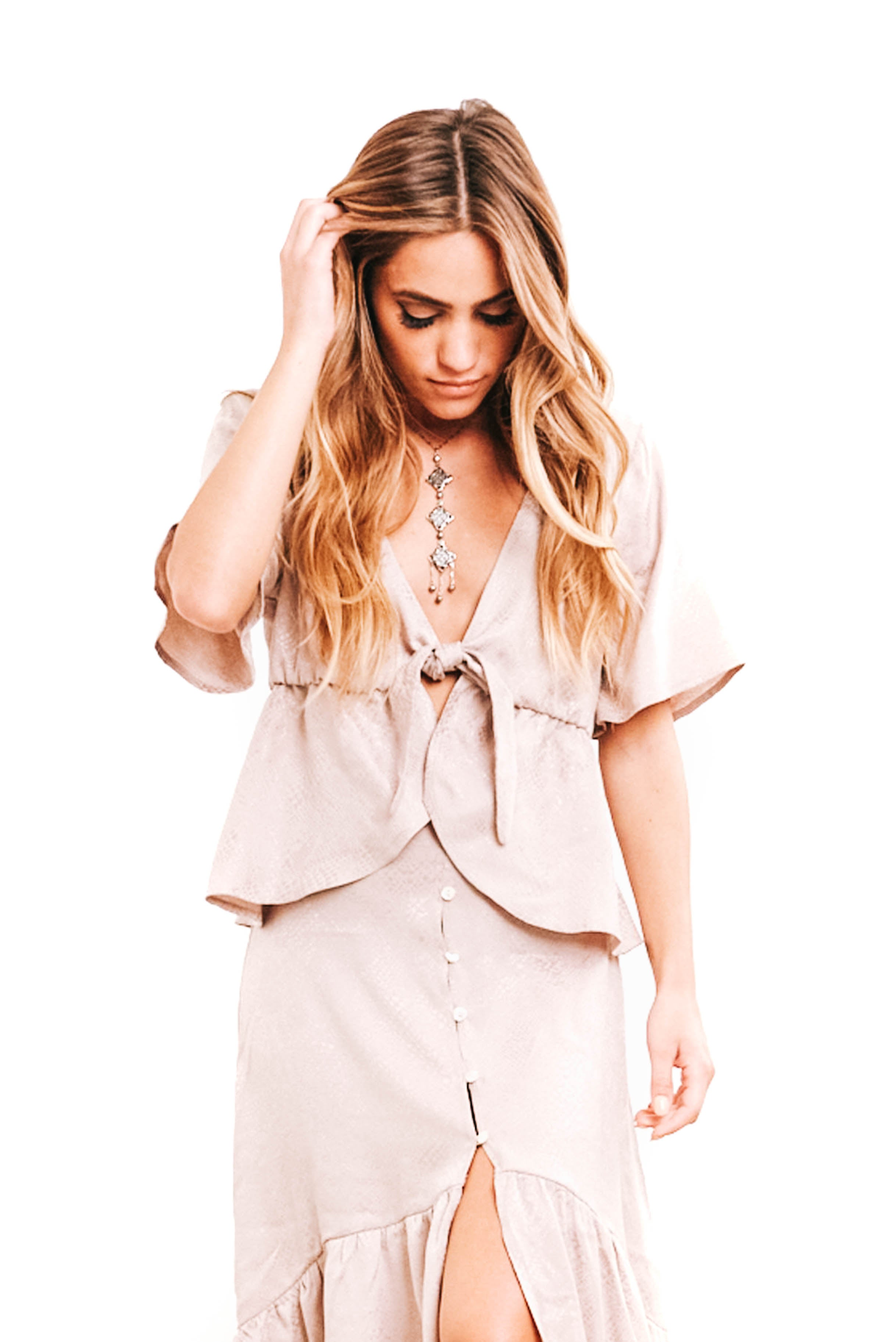 Lilac Ice Libby Tie Top