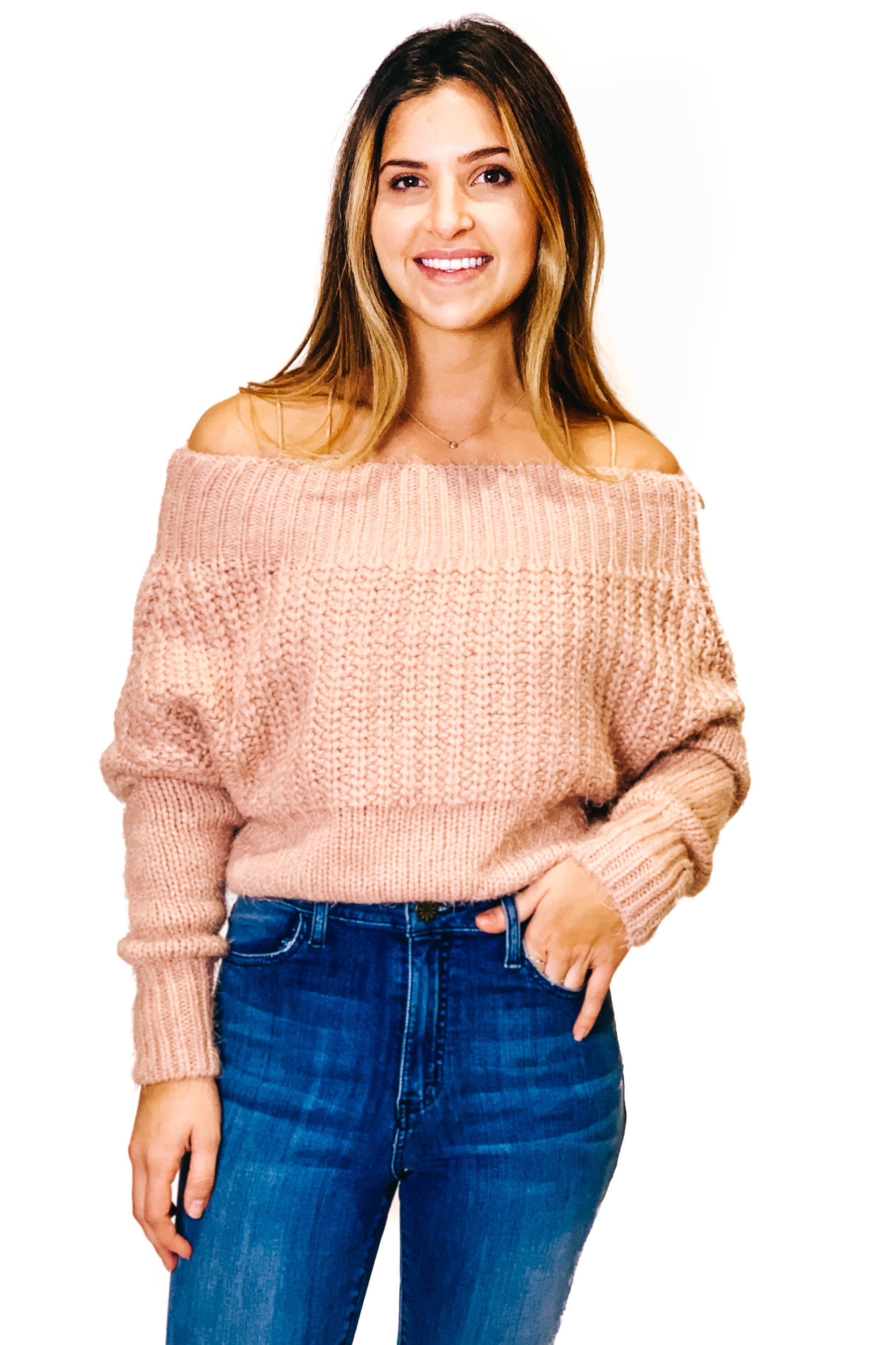 Blush Living in Love Sweater