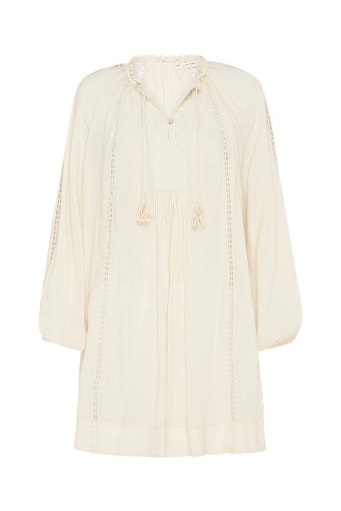 Spell Cream Loves Me Not Tunic Dress - Flat Lay Front