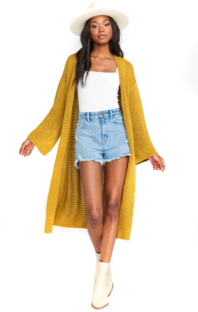 Citrine Knit Farida Sweater - front