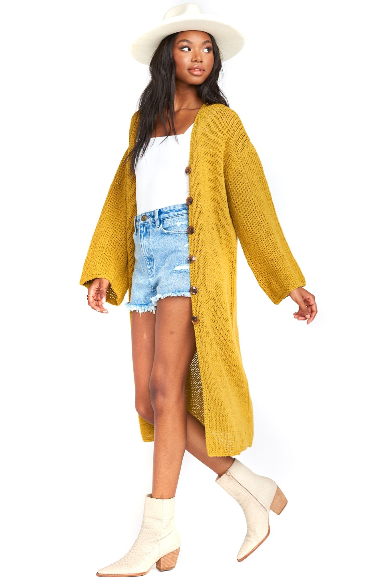 Citrine Knit Farida Sweater