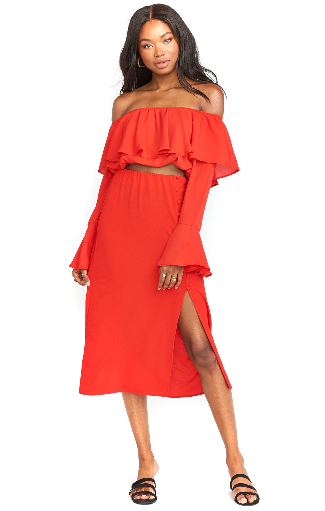 Show Me Your Mumu Tango Red Ramsey Skirt