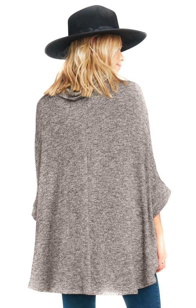 Mountaintop Sweater Knit Yuri Poncho