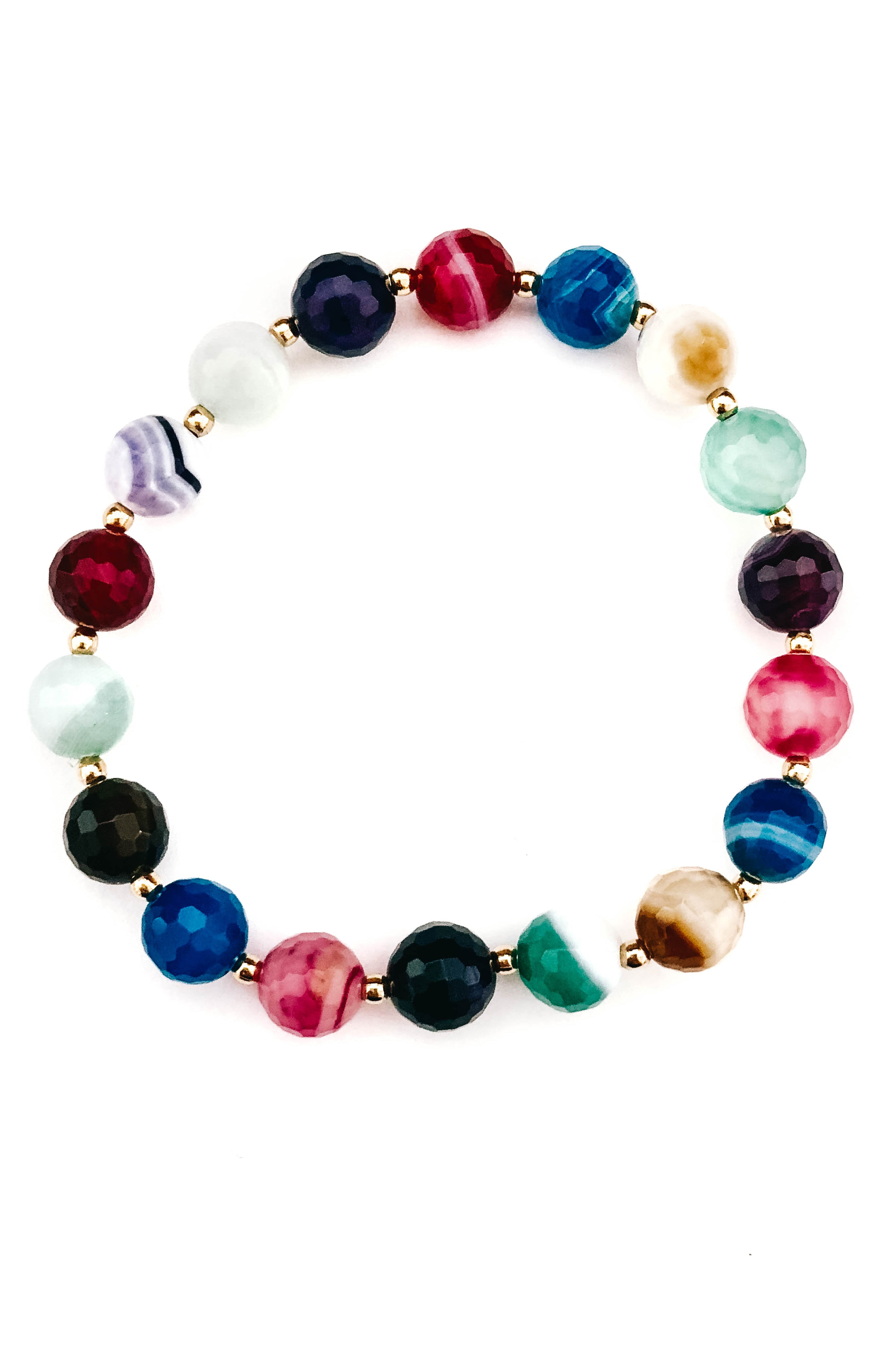 Multi-Colored Beaded Bracelet