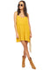 Mustard Caroline Mini Dress - Full length