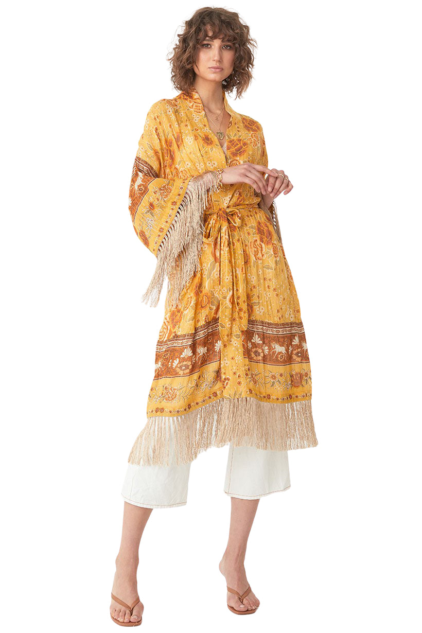 Sunflower Mystic Tasselled Robe - Front