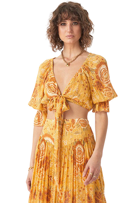 Sunflower Mystic Tie Top