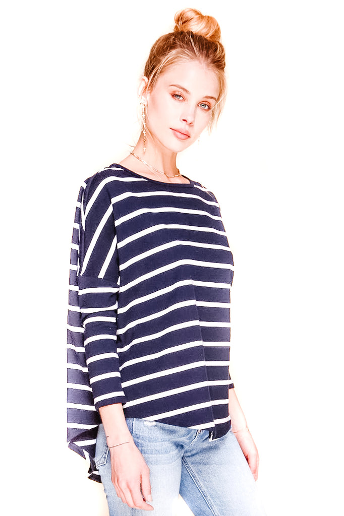 Navy and White Stripe Tom Shirt