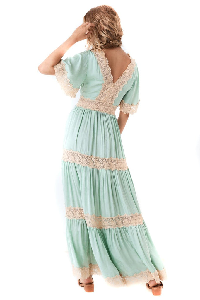 Spell & The Gypsy Collective Seafoam Ocean Gown - back