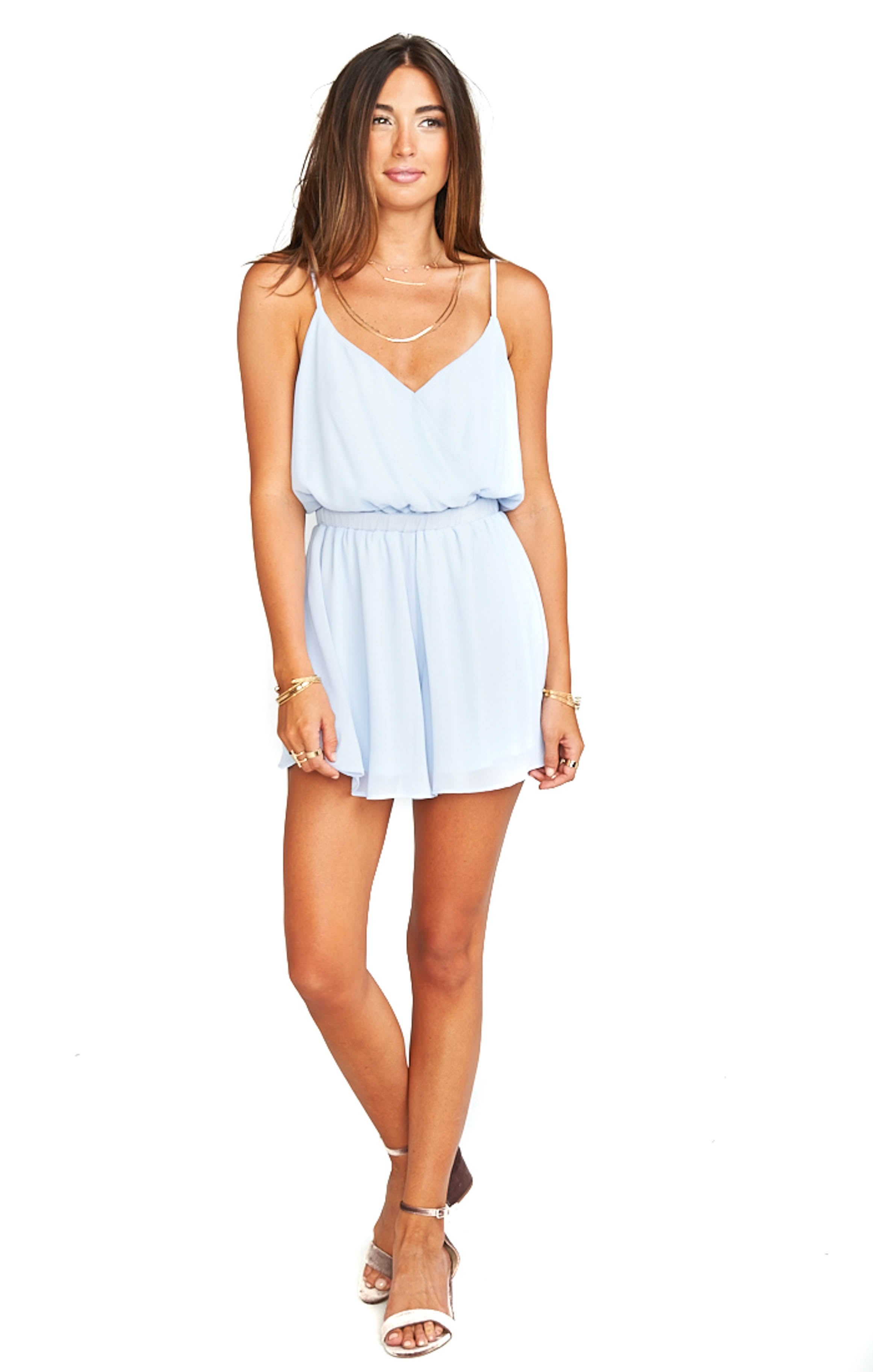 Periwinkle Olympia Romper