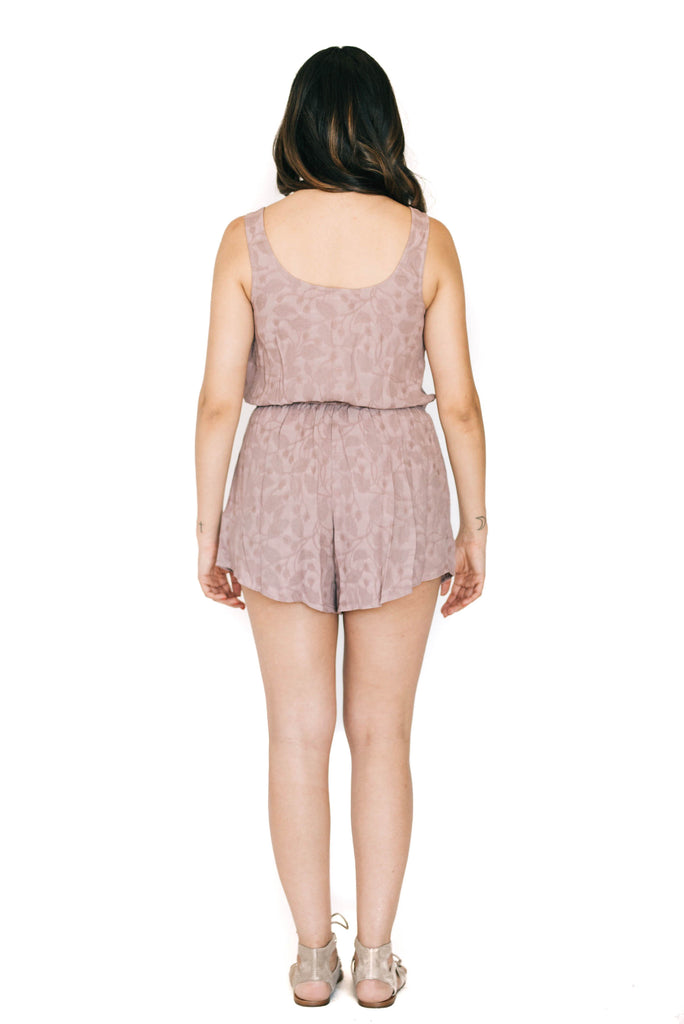 saltwater luxe orchid live it up romper back photo