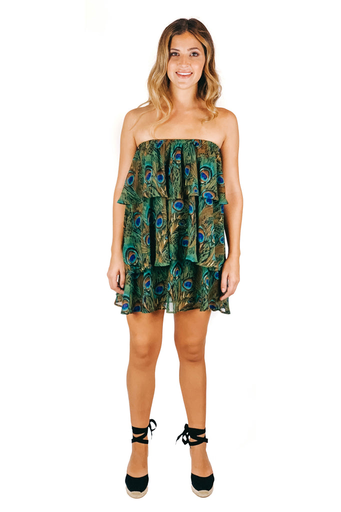 Original Peacock Triple Decker Romper
