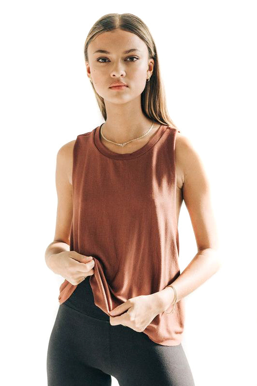 Joah Brown Oxblood Exhale Tank
