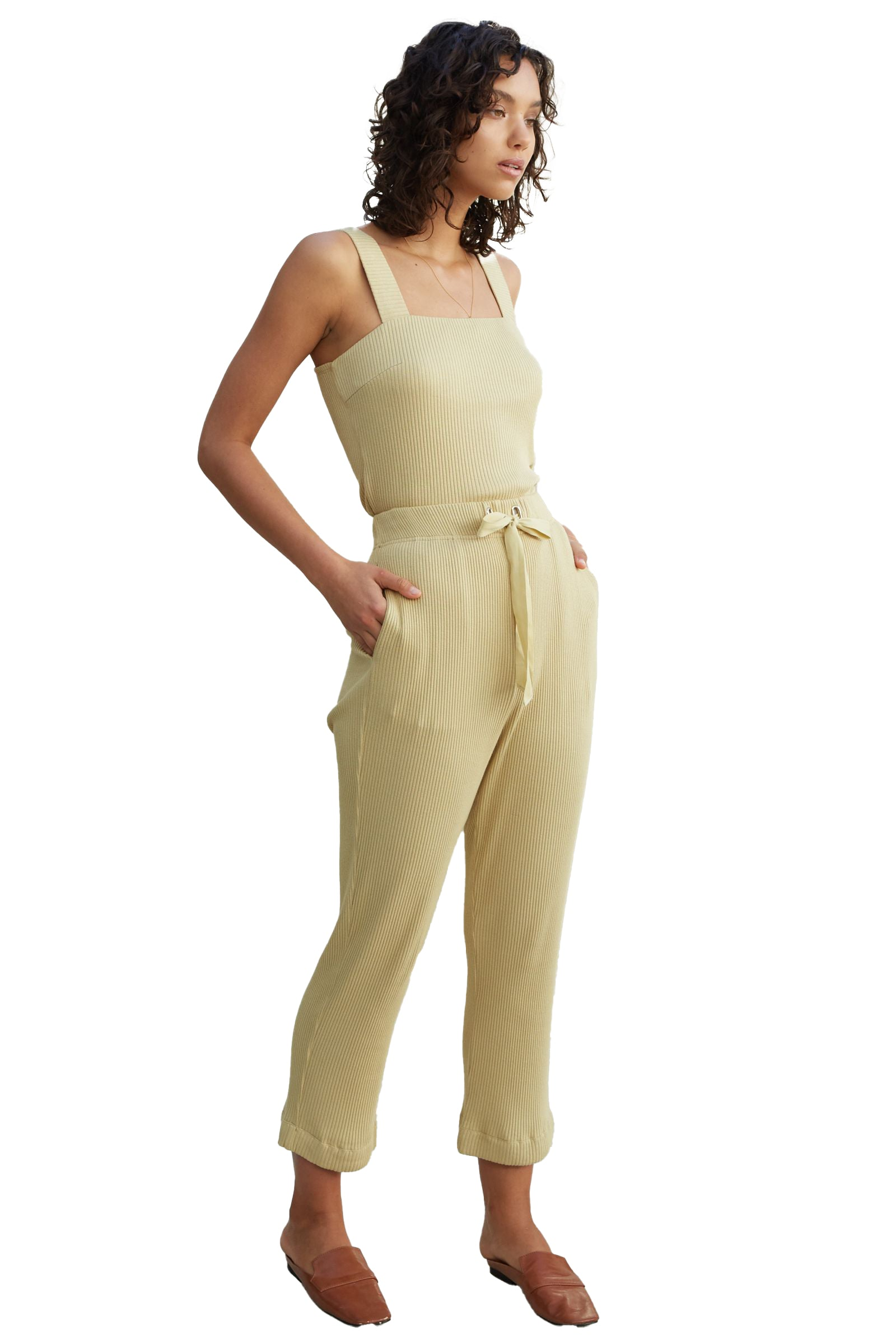 Pale Olive Luna Pant - side