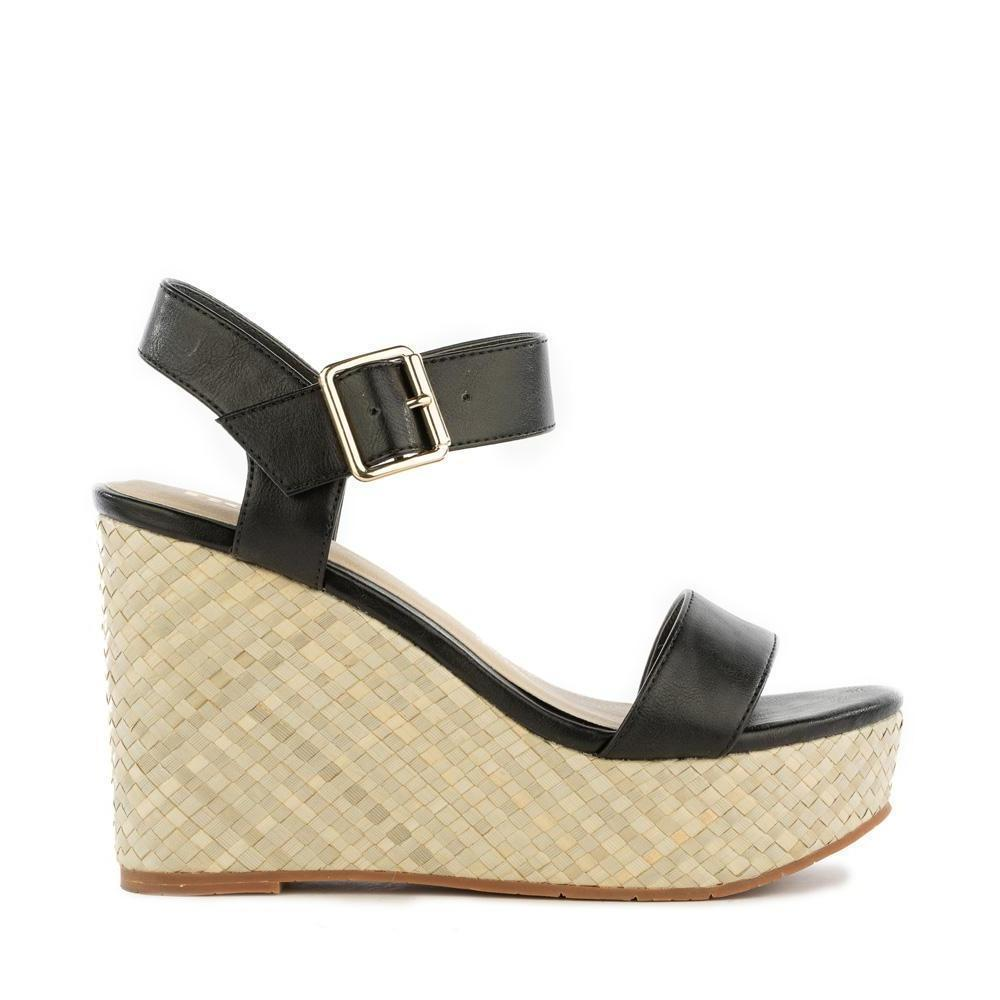 BC footwear vegan wedge sandal side view